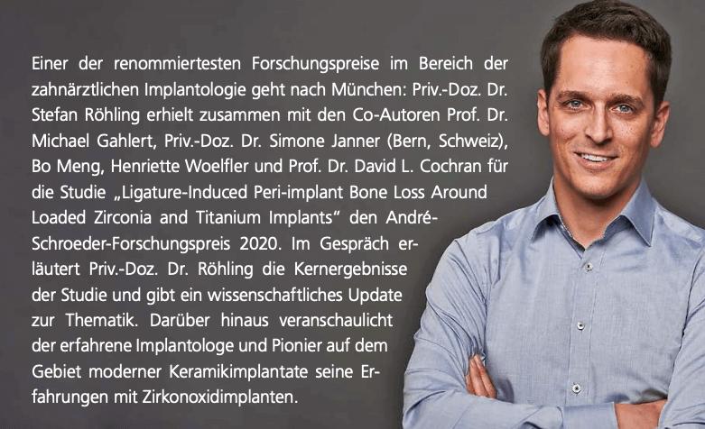 Ankündigung André-Schroeder-Forschungspreis 2020